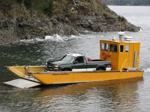 Sealander with a truck on board